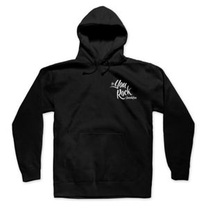 YOU ROCK LOGO LEFT CHEST - PREMIUM MEN'S/UNISEX PULLOVER HOODIE - BLACK Thumbnail