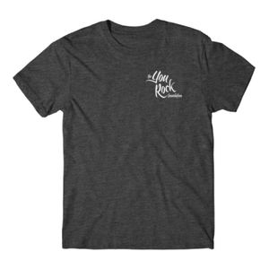 YOU ROCK LOGO LEFT CHEST - PREMIUM MEN'S/UNISEX S/S TEE - CHARCOAL HEATHER Thumbnail